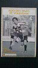 Programme / Programma ADO Den Haag v FC Volendam 02-05-2003