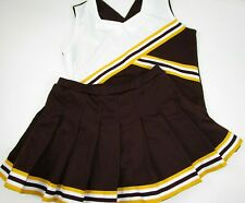Cheerleader Uniform Outfit Cheer Costume Adult Large Top Elastic Pleated Skirt