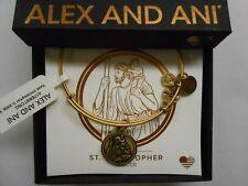 Alex and Ani Saint Christopher III Bangle Bracelet Rafaelian Gold NWTBC