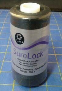 Surelock Overlock Thread 3,000yd Black 071484040134