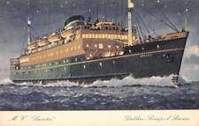Dublin Liverpool Service MV Leinster Steamship Antique Postcard J71392