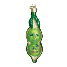 Old World Christmas Two Peas In A Pod (28041)N Glass Ornament w/ Owc Box
