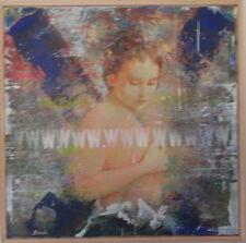 M. DELVECCHIO olio tela 50x50 + catalogo con schifano rotella lodola warhol dalì
