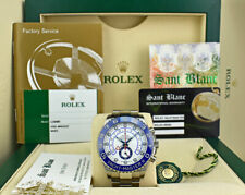 ROLEX Never Worn 44mm SS YachtMaster II Box/Papers 2020 CARD 116680 - SANT BLANC