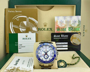 ROLEX 44mm SS YachtMaster II Box/Papers CARD 116680 - SANT BLANC