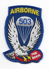 """New listing Us Army 503rd Airborne Infantry Regiment """"The Rock"""" patch"""