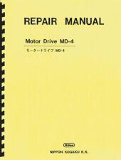 Nikon MD-4 Motor Drive Service and Repair Manual & Parts List