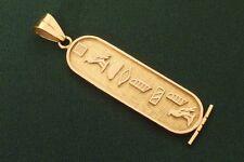 18K Yellow Gold Egyptian Symbols Pendant