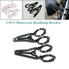2x41MM Motorcycle Headlamp Bracket Front Fork Headlight Mount Holder Clamp Solid