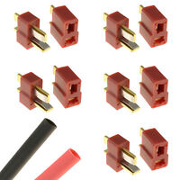 5 x PAIRS Deans T Plug Gold RC Connectors