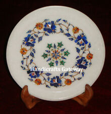 "Marble Beautiful Inlay Home Decor Plate, 8"" Inch Marble Inlaid Decorative Plates"