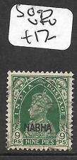 INDIA NABHA (P0411B) KGVI 9P  SG 97  VFU