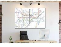 London Underground Map - Canvas Wall Art Home Decor FRAMED