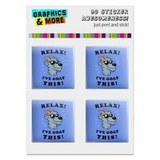 Relax I've Goat This Got Funny Humor Computer Case Modding Badge Stickers Set