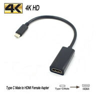 [4K HD HDMI Cable Adapter ] Type C 3.1 Male to HDMI Female HDTV Cable NEW US