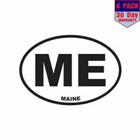 Maine State ME 4 Stickers 3X5 Inch Sticker Decal