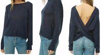 Cross Back Sweater Medium Open Long Sleeve Lightweight Pullover Cardigan NWT