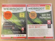 Webroot Secure Anywhere Internet Security With Antivirus 3 Devices Brand NEW