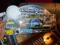 Plaque de Rallye des Monts du Puy de Dôme 2015 Citroen Opel