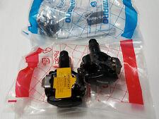Pedali bici MTB Shimano SPD PD-M505 mountain bike pedals nero black
