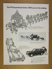 1969 Volkswagen vw Squareback '5000 years in the making' vintage print Ad