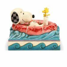 Jim Shore Peanuts Snoopy Woodstock in Floatie Figurine 6005942 Float Away New