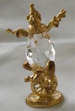 Crystal Unicycle Clown Figurine - Clown Miniature - Whimsical Clown