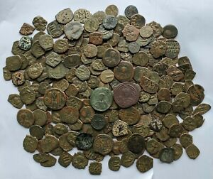 HUGE Lot Of 223 Ancient Byzantine + Roman Coins Anastasius, Justinian, Heraclius