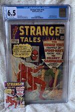 Strange Tales #115 (12/1963) CGC 6.5 OW   SPIDER-MAN   Dr Strange Origin