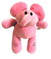 Bandai Elly Pocoyo Pink Elephant Soft Plush Toy 24 cm Tall