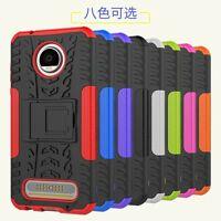 Shockproof Hybrid Armor Rugged Hard Stand Case Cover For Motorola Moto Z2 Play