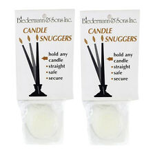 16pc Candle Snuggers (2 packs of 8) Adapters Grippers to Keep Candles Straight