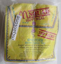 MIP McDonald's 1993 M Squad SPYCODER Take NOTES Code Coder SPY Toy SECRET AGENT