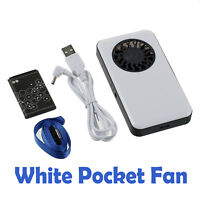 Mini USB Rechargeable Portable Fan Cooling Air HandHeld Travel Cooler Pocket Fan