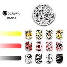 UR SUGAR Nail Stamping Plates Animals Monkey Bee Cat Rabbit Nail Art Templates