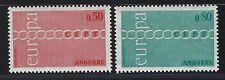 1971 Andorra (Fr) Scott #205-206 - EUROPA Set of 2 Stamps - MNH