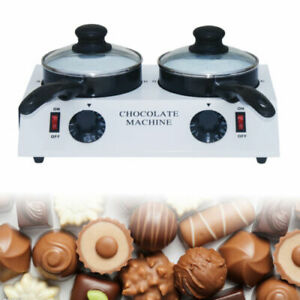 Double Chocolate Tempering Cylinder Melting Machine+2 Ceramic Non-Stick Pot 220V