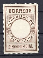 CHILE 1900 Seal MLH no official printing perforated brown