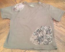Robert Wayne Grunge Punk Men's t shrit size 2XL olive green de fleur design