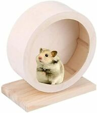 Fouua Hamster Wheel, Diameter-5.9Inches Wood Hamster Exercise Wheel, Small Anima
