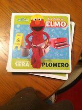 SESAME STREET IN SPANISH-LOS OFICIOS DE ELMO---PLOMERO--NEW IN PLASTIC