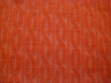 Awesome BURNT ORANGE BURNOUT Chain VELOUR JERSEY Fabric