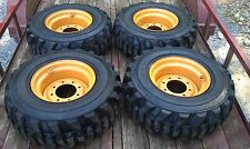 4 New Deestone 12x165 Skid Steer Tires Amp Rims For Case Xt Amp 400 Series 12 165