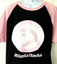 Atlanta Hawks Womens Throwback T Shirt NBA Pink Black Hardwood Classics Size 3X