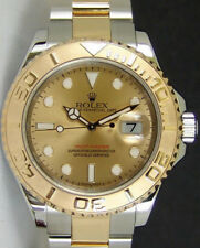 ROLEX - Men's Gold & Stainless 40mm YachtMaster Champagne Index 16623 SANT BLANC