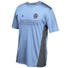 Camiseta de fútbol de manga corta en azul