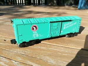 LIONEL VINTAGE GREAT NORTHERN BOXCAR # 39195 LIGHT GREEN -EXCELLENT CONDITION