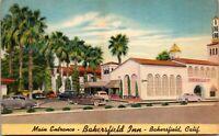 Vtg 1930's Bakersfield Inn Motel, California CA Postcard
