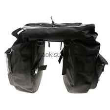43L Bike Waterproof Rear Rack Double-sided Panniers Saddle Bag + Rain Cover