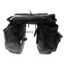 43L Bike Waterproof Rear Rack Double-sided Panniers Saddle Bag + Rain Cover